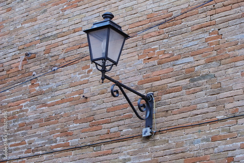 street lamp in Massignano, marche region, Italy