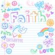 faith colored doodles