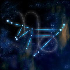 Capricorn constellation and symbol