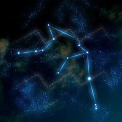Aquarius constellation and symbol
