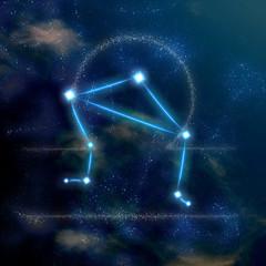 Libra constellation and symbol