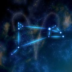 Aries constellation and symbol