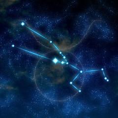 Taurus constellation and symbol