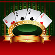 Casino vector banner with cards