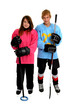 Teenage Ringette and Hockey Players