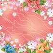 Japanese floral frame