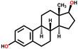 Sex hormone estradiol structural formula