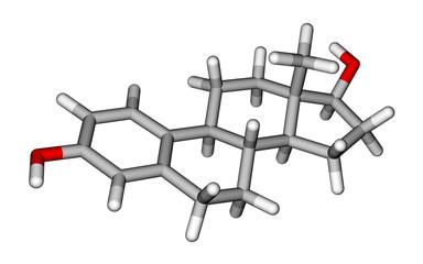 Sex hormone estradiol molecule