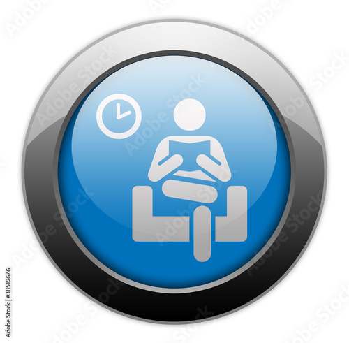"Metallic Orb Button ""Waiting Room"""