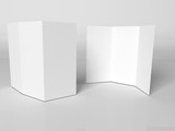 Blank white booklet template poster