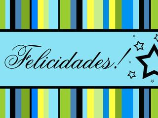 Cartão a desejar felicidades