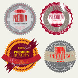 Set of Superior Quality and Satisfaction Guarantee Badges, Label poster