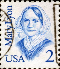 Mary Lyon. 1797 - 1849. US Postage.