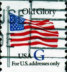 Old Glory. US Postage.