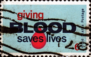 Giving Blood Saves Lives. 1971.  US Postage.