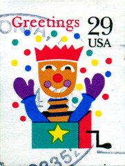 Greetings. Christmas. Toy. US Postage.