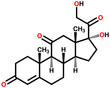 Cortisone structural formula