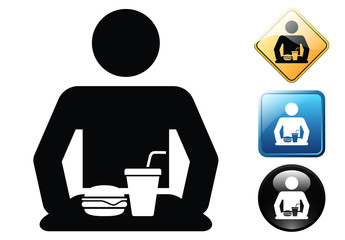 Self-service pictogram and signs