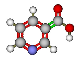 Niacin (vitamin B3 or PP) molecule