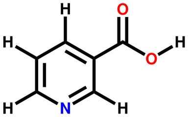 Niacin (vitamin B3 or PP) structural formula