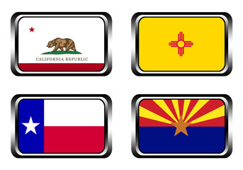 california, texas, arizona, new mexico