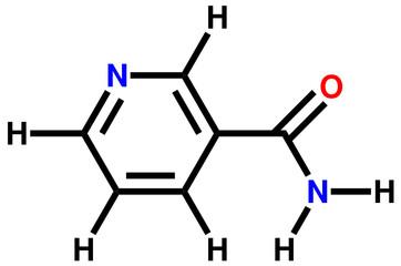 Vitamin nicotinamide structural formula