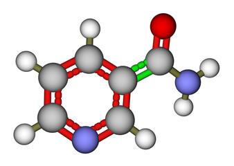 Vitamin nicotinamide molecule