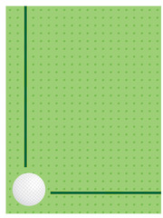 green background with golf ball vector illustration