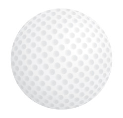 golf ball over white vector illustration