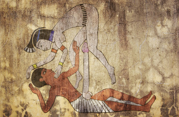 ancient Egypt - erotic drawing looks like fresco