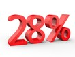 3d Schrift 28% rot