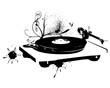 Dj mix. Vinyl record