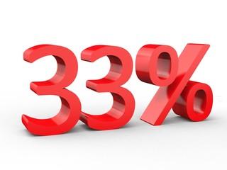 3d Schrift 33% rot