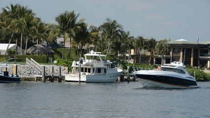 Weekend boating in Fort Lauderdale, Florida