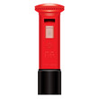 Red Mail Box - England London - Icon - detailed isolated vector - 38529039