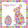 colorful easter card on white background