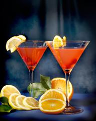 Cocktail alla frutta con arancia e limone