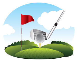 Golf. Kick the ball