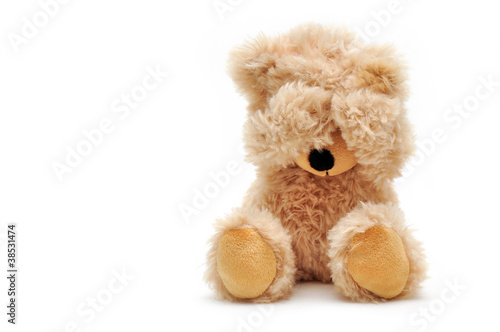 canvas print picture trauriger Teddy