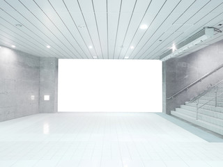 Blank wall and staircase