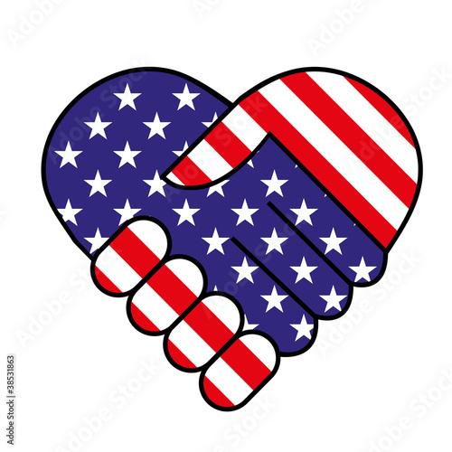 American hand shake