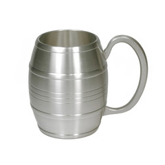 Isolated metal cup on white