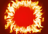 Ring of fire red background