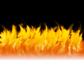 Fire with black background vector