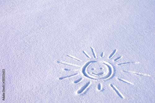 Słoneczko na śniegu © nestonik