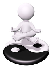 3D man - Meditation and Yin Yang
