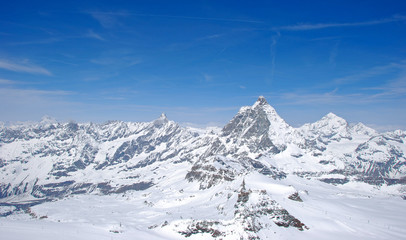 Panoramic view from Matterhorn, Switzerland