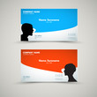 Vector Set of modern business card templates