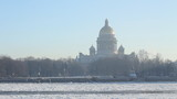 (pan) St Petersburg, St Isaac Cathedral and Neva river poster