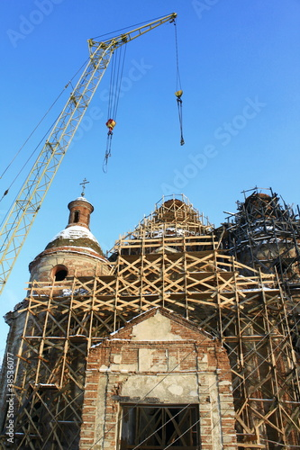 Restoration of an old beautiful church